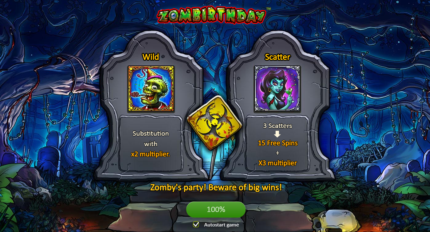 Zombirthday WILD Slot Game
